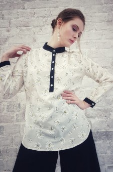 белая блузка натуральный шелк